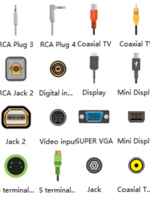 video-audio-ports-symbols